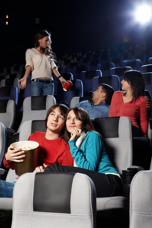Visionnement de cinéma image libre de droits
