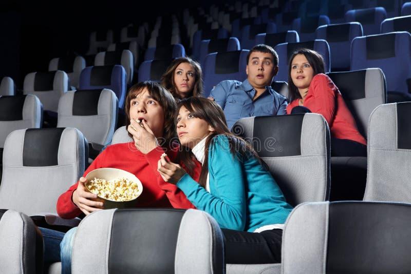 Visionnement de cinéma images libres de droits