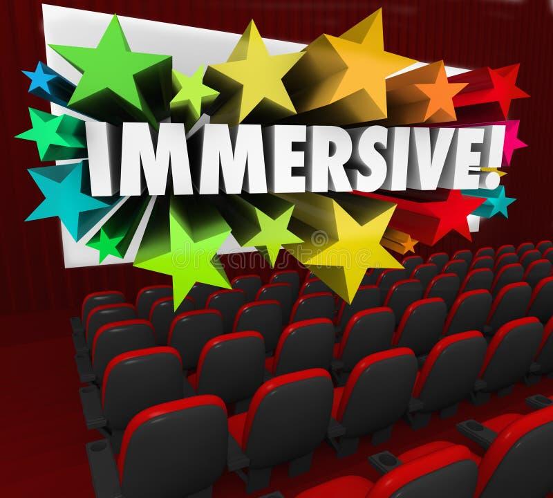 Visionnement de sensation d'expérience de divertissement de film d'Immersive illustration stock