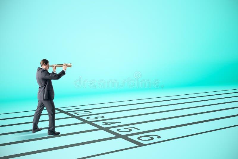 Visions-, Forschungs- und Wettbewerbskonzept stockfotos