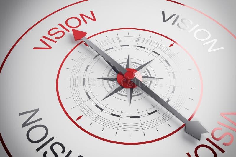 Visions-Kompass lizenzfreie abbildung