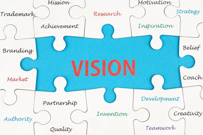 Visionskonzept-Wortwolke stockfoto