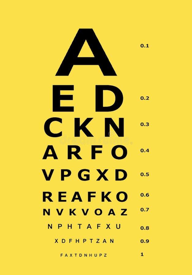Visionsprüfungsdiagramm lizenzfreie abbildung
