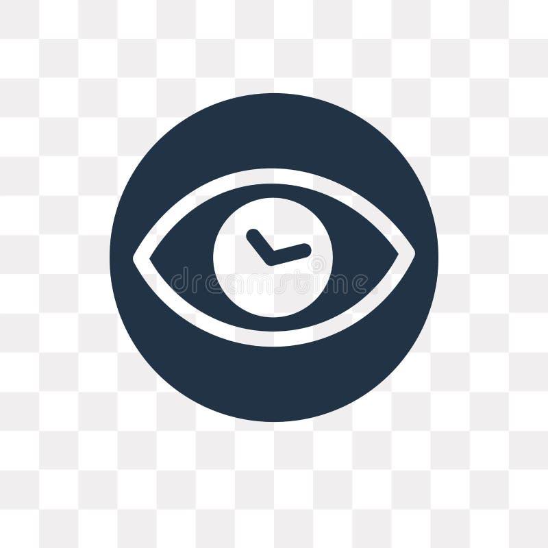 Visionvektorsymbol som isoleras på genomskinlig bakgrund, vision t royaltyfri illustrationer