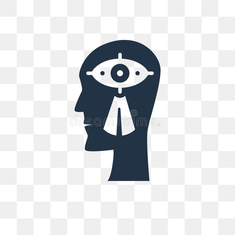 Visionvektorsymbol som isoleras på genomskinlig bakgrund, vision t vektor illustrationer