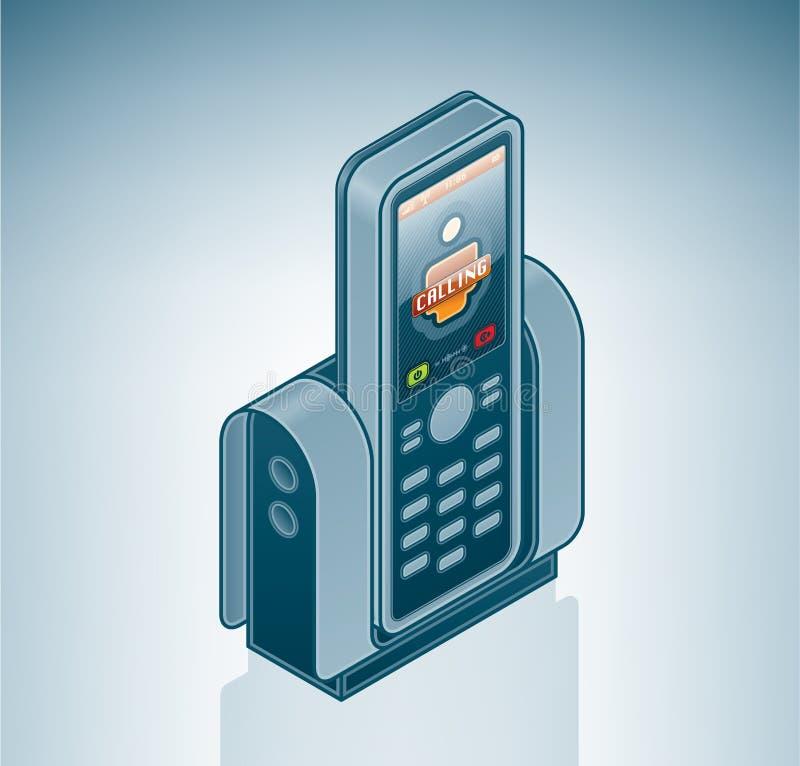 Visiophone sans fil d'Internet illustration libre de droits
