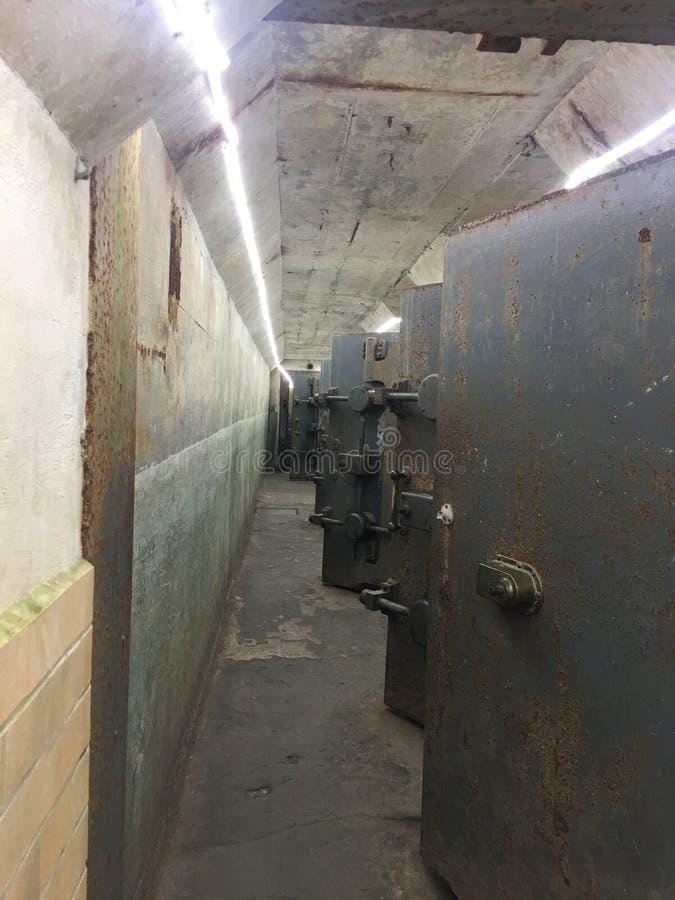 A visité un tunnel avec des salles photo stock