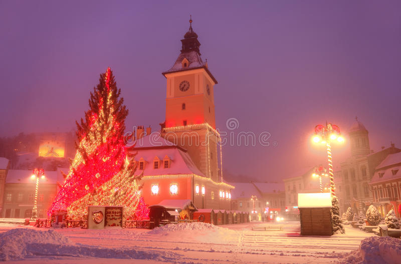 Download Visit Brasov Romania editorial photography. Image of snowing - 83723402