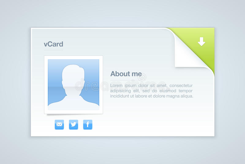 Visit Card. Personal Info Vector Illustration Editorial Stock Image