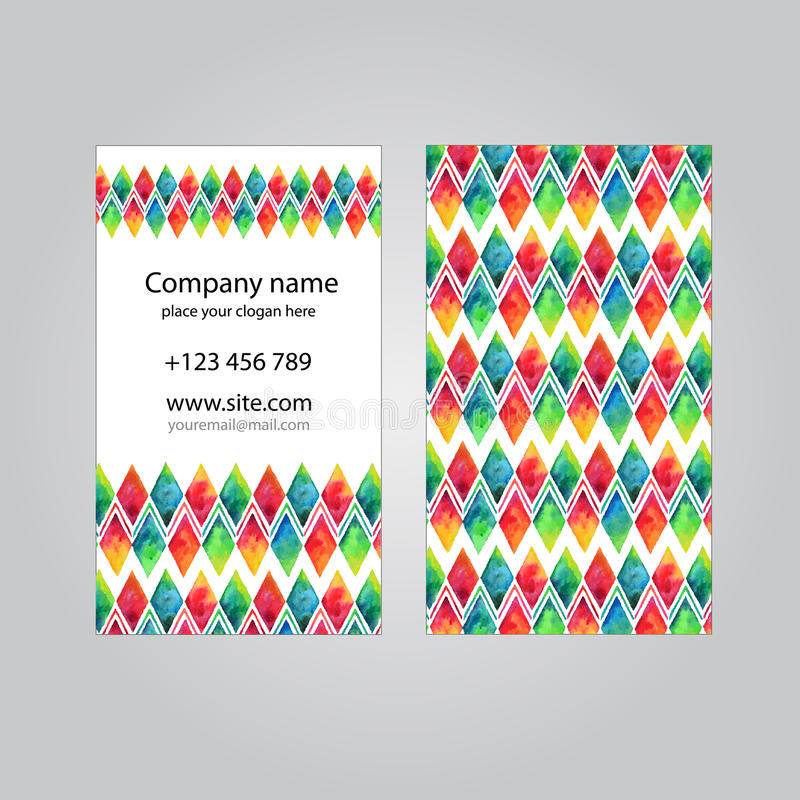 Visit card set template stock illustration