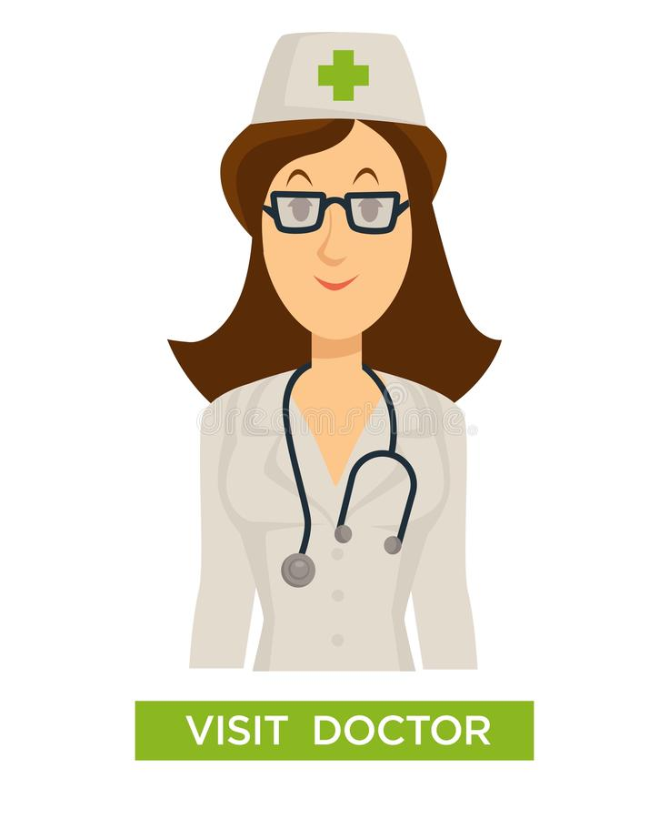 Visit doctor medical advice medicine and healthcare regular check vector illustration