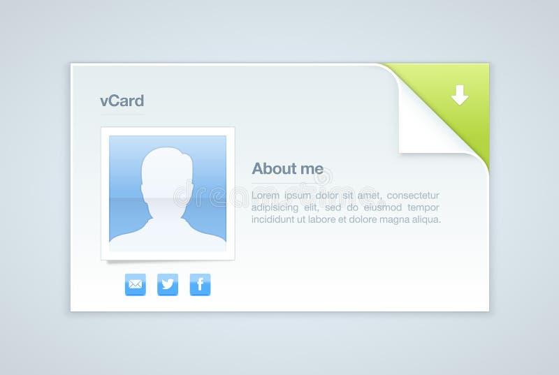 visit för vektor för kortillustration info personlig royaltyfri illustrationer
