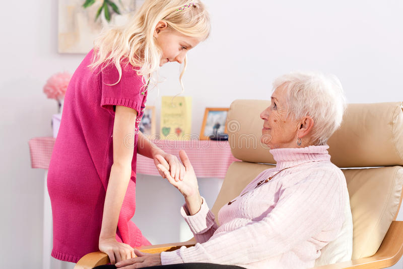 Visit at grandma's royalty free stock image