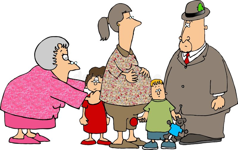 A visit with the grandparents stock illustration