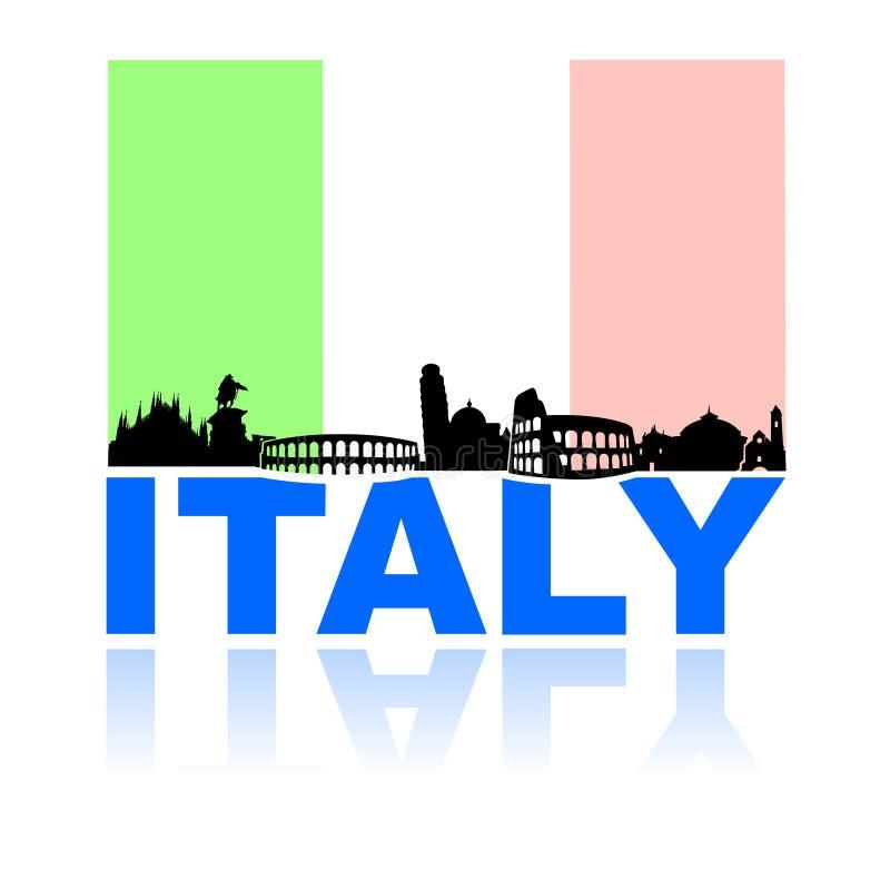 Visit italy tourism landmarks stock illustration