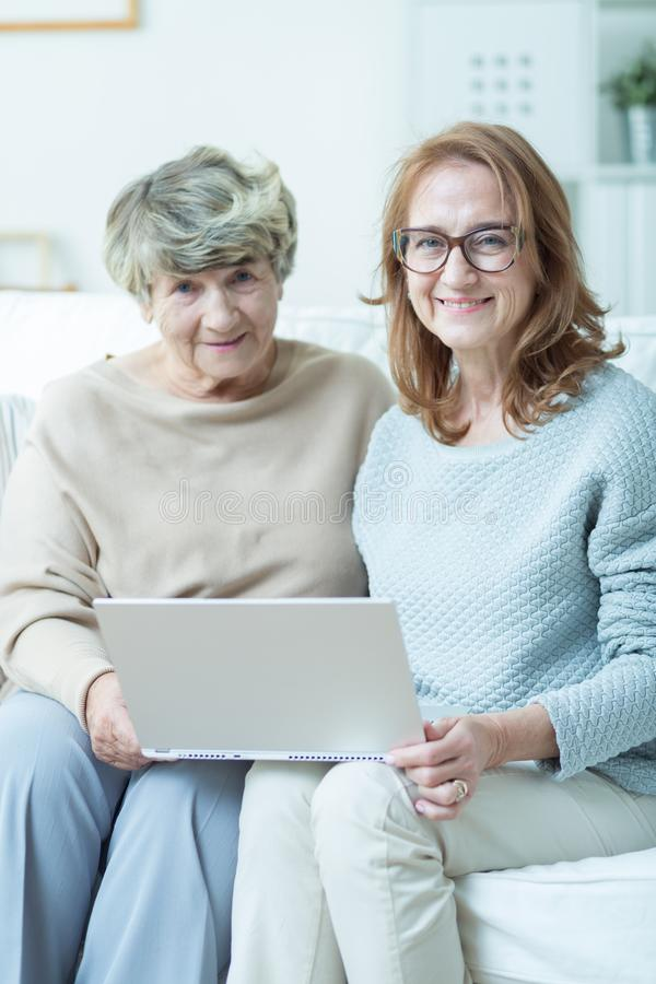 Visit in nursing home royalty free stock photo