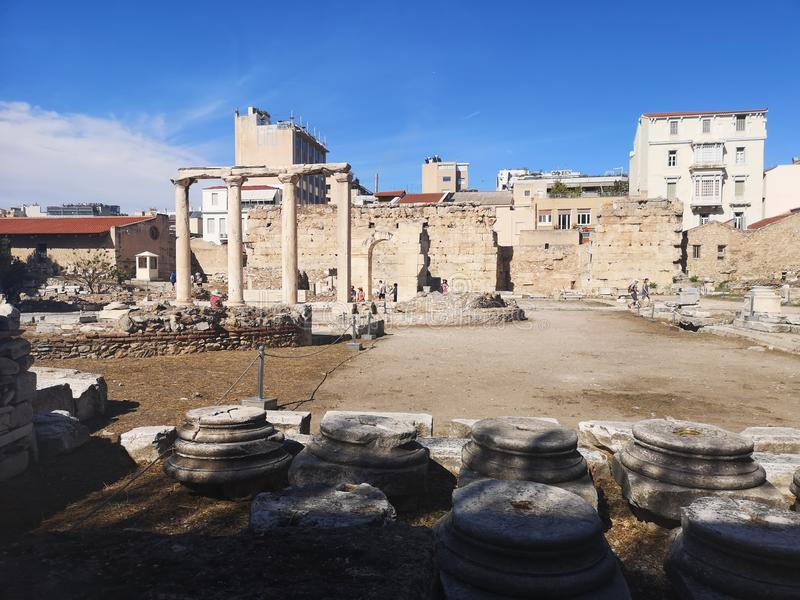 Visit one Antic ruins from Athens Greece stock image