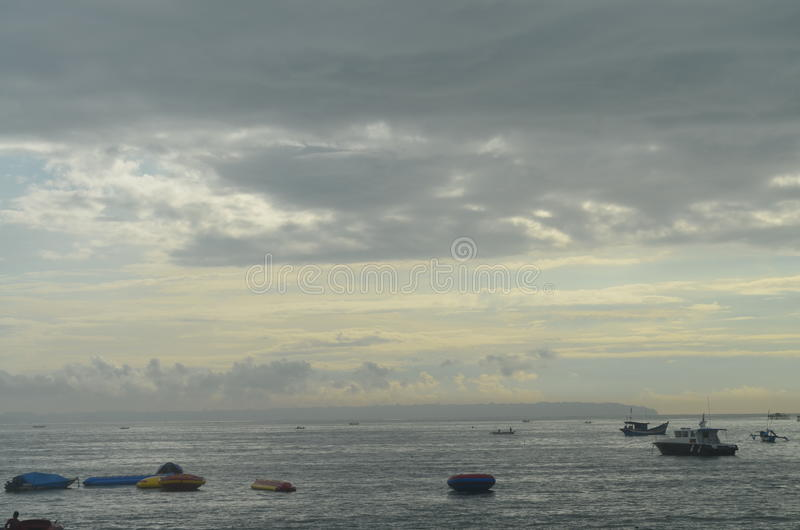 Visit Pangandaran 5. Pangandaran is a town and district of Pangandaran Regency within the province of West Java, Indonesia. It is located on the southern coast royalty free stock image