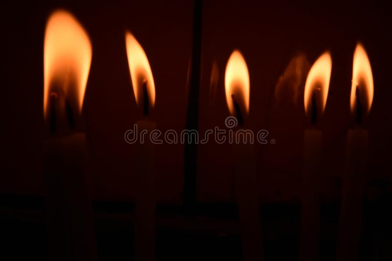 Visit the temple the church, to light the candles on the stand. Ä°STANBUL  Turkey stock image