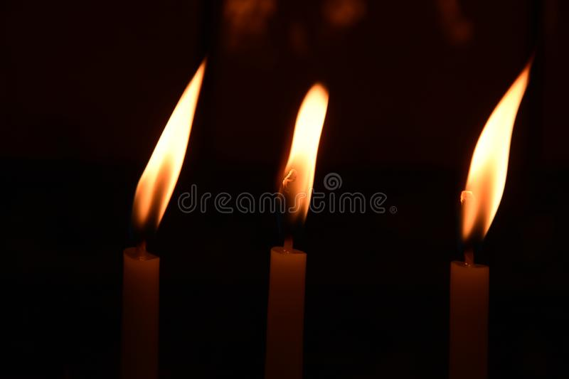 Visit the temple the church, to light the candles on the stand. Ä°STANBUL  Turkey royalty free stock photos