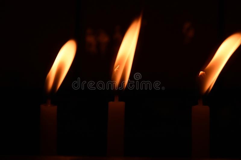 Visit the temple the church, to light the candles on the stand. Ä°STANBUL  Turkey royalty free stock photography