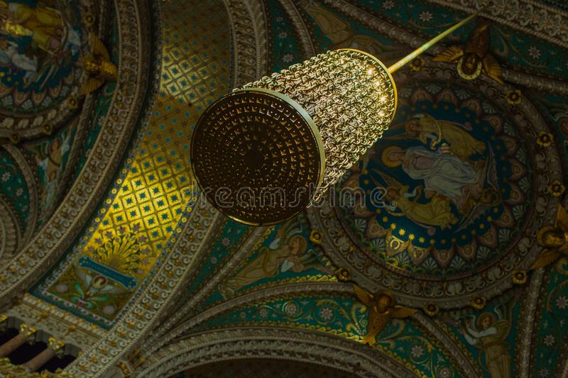 A visit to the Cathedral of notre dame de fouviere stock photos