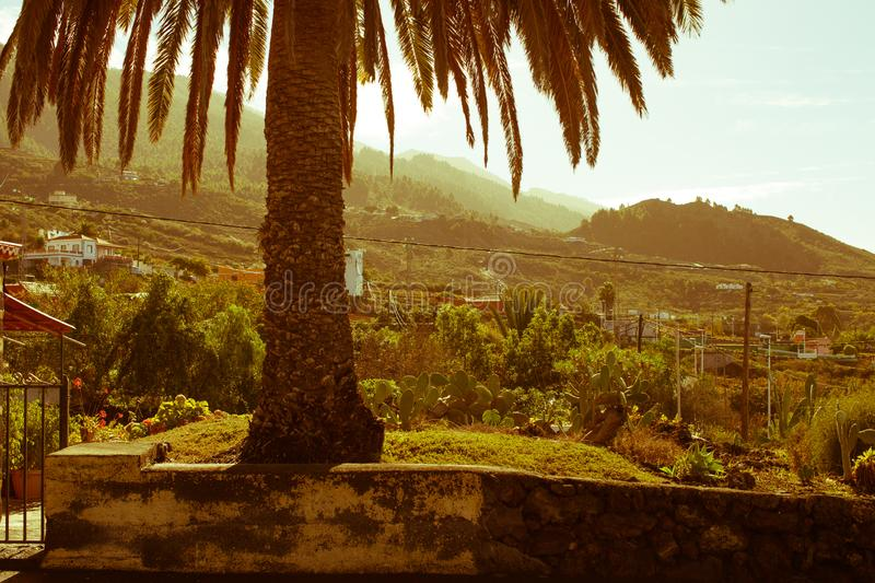 A visit to the island of La Palma on the Atlantic ocean stock images
