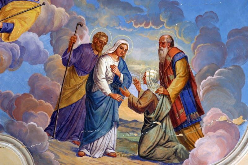 Visitação da Virgem Maria ilustração stock