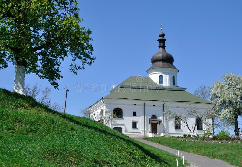 Visita ao monastério fotografia de stock