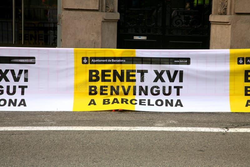 Download Visita Barcelona do papa foto de stock editorial. Imagem de benet - 16857723