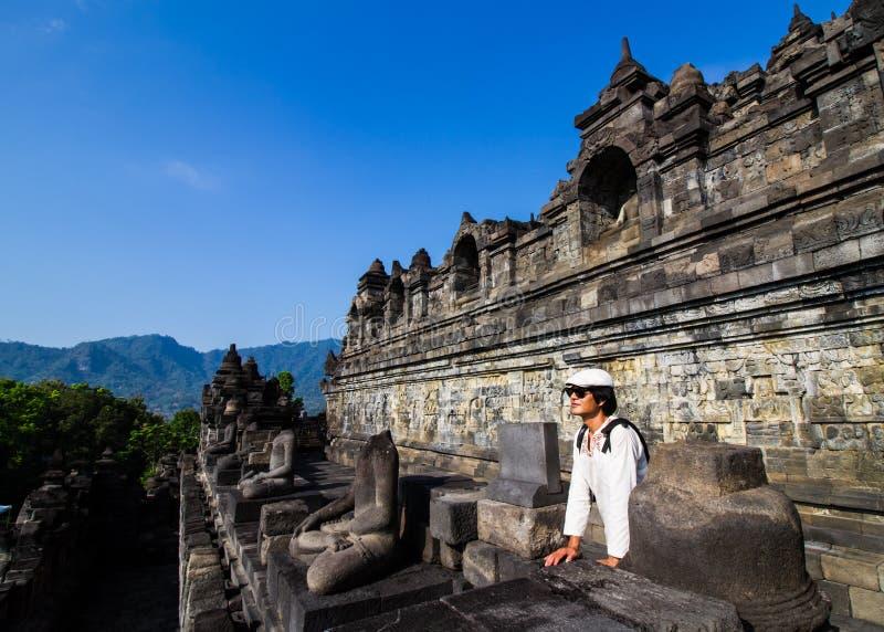 Visita Borobudur fotografia stock