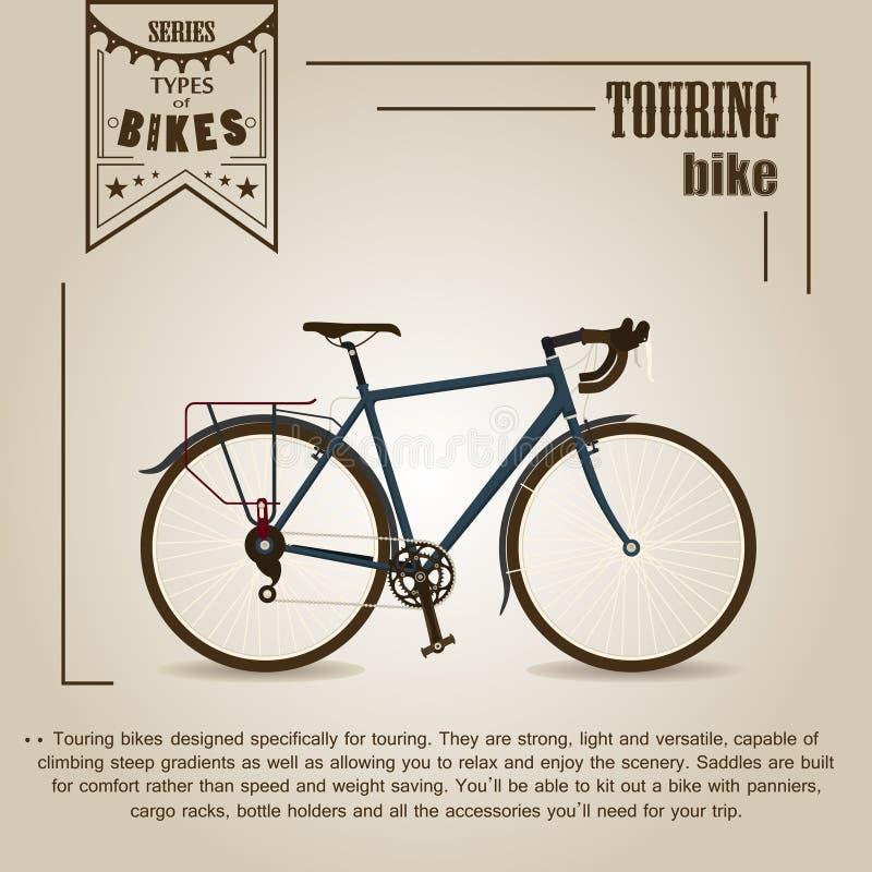 Visita da bicicleta ilustração royalty free