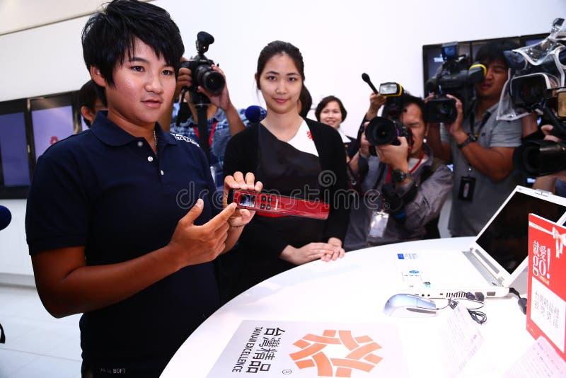 Visita de Yani Tseng la excelencia Exhibition2 de Taiwán foto de archivo libre de regalías