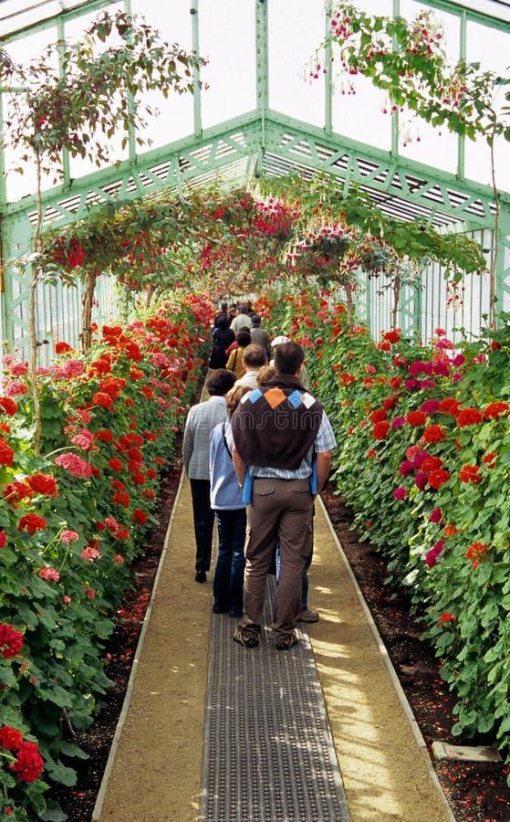 Visita dei giardini reali fotografia stock