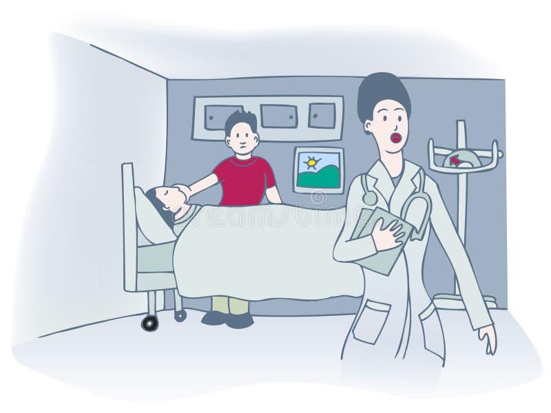 Visita del hospital stock de ilustración