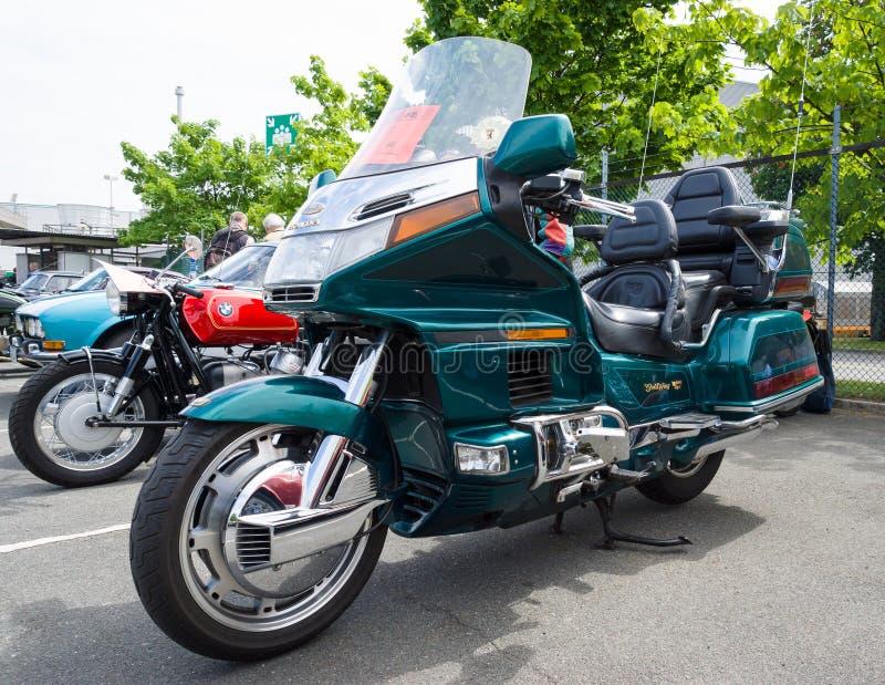 Visita del motociclo Honda Gold Wing fotografia stock libera da diritti
