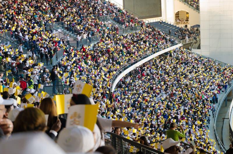 Visita del Papa negli Emirati Arabi Uniti 2019 fotografie stock
