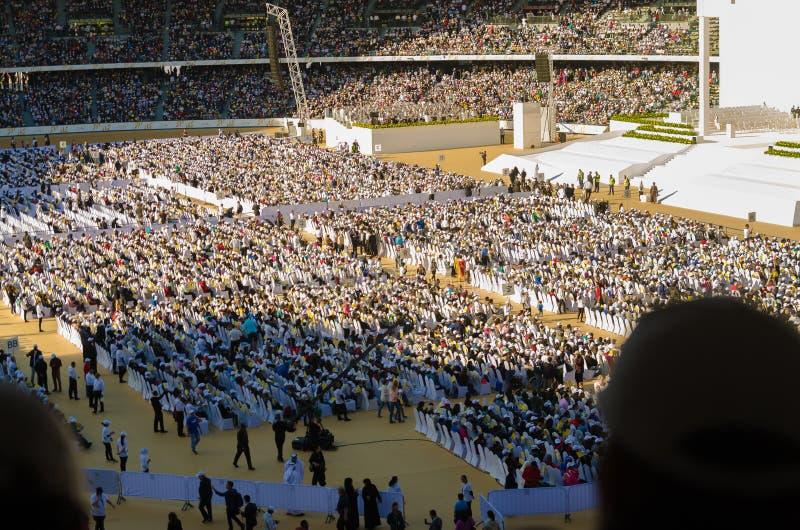visita del Papa negli Emirati Arabi Uniti nel 2019 immagini stock libere da diritti