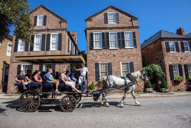 Visita di Charleston storico, Sc fotografie stock