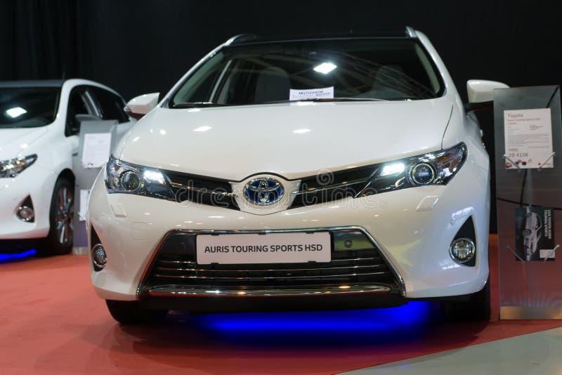 Visita di Toyota Auris immagine stock