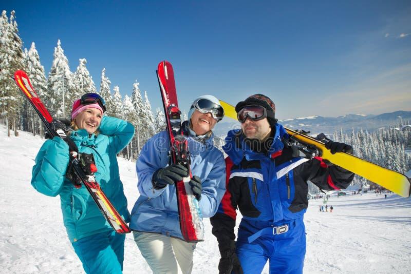 Visita do esqui fotografia de stock