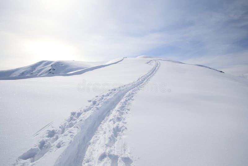 Visita do esqui imagens de stock