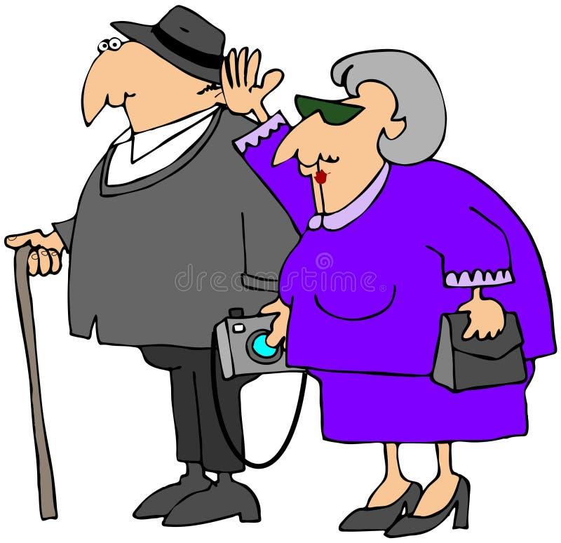 Visita dos Grandparents ilustração royalty free