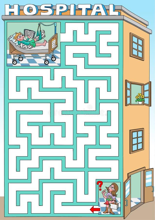 Visita em um hospital ilustração royalty free