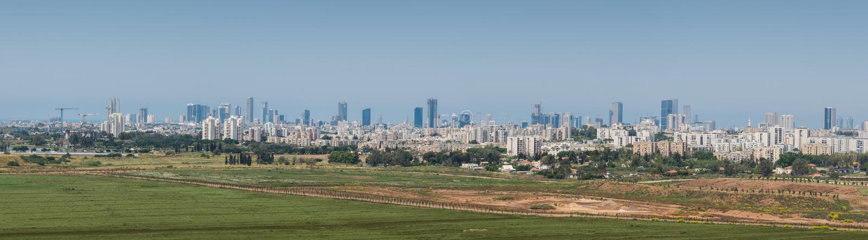 Visita a Hiriya (parque de Ariel Sharon) fotografia de stock