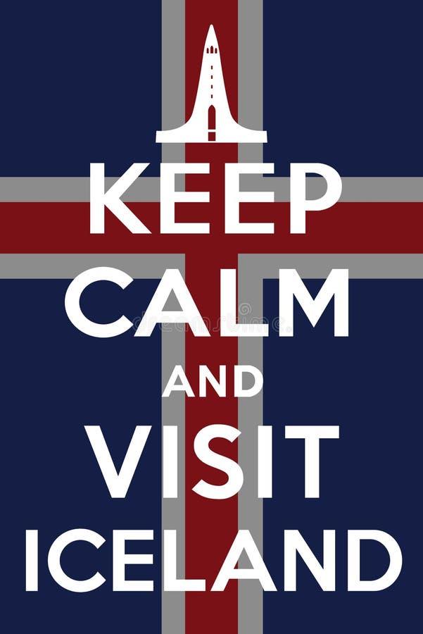 Visita Islandia stock de ilustración