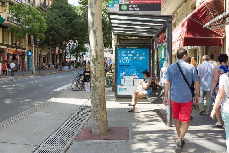 Visita a la ciudad de Barcelona imagen de archivo