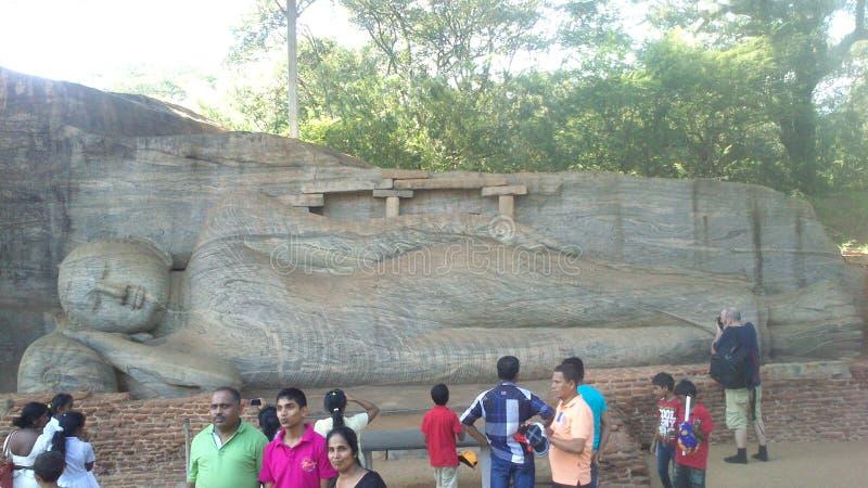 Visita religiosa Anuradhapura Sri Lanka de Budhism fotografía de archivo