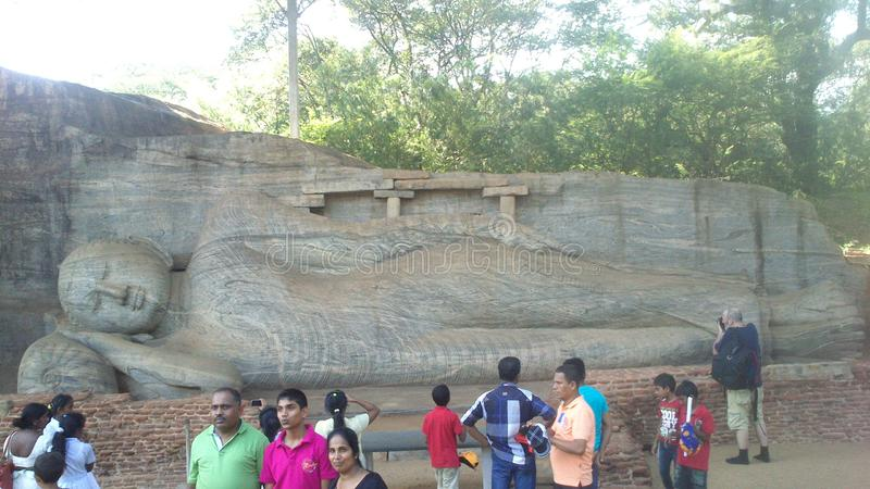 Visita religiosa Anuradhapura Sri Lanka di Budhism fotografia stock
