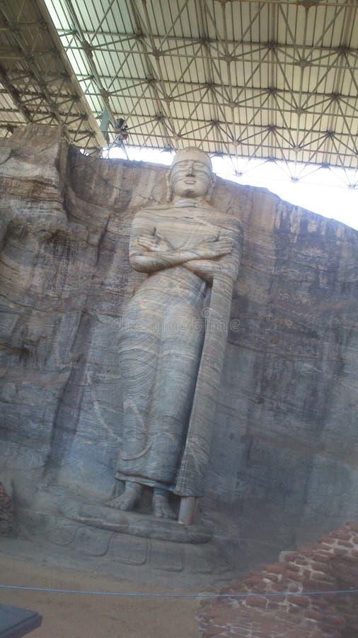Visita religiosa Anuradhapura Sri Lanka di Budhism fotografia stock libera da diritti